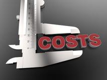 Conceito de medição dos custos Imagens de Stock