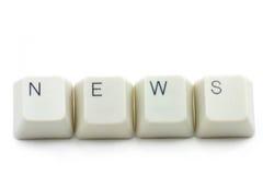 Conceito de media de notícia em linha Imagens de Stock Royalty Free