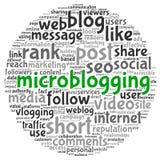 Conceito de Microblog na nuvem da etiqueta da palavra ilustração royalty free