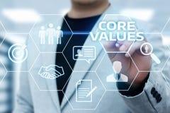 Conceito de Núcleo Valores Responsabilidade Éticas Objetivos Empresa imagem de stock