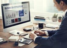 Conceito de Networking Strategy do homem de negócios do empresário fotografia de stock royalty free