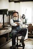 Conceito de Occupation Craftsmanship Carpentry do trabalhador manual imagem de stock