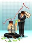 Conceito de pagar o imposto Imagem de Stock Royalty Free