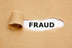 Conceito de papel rasgado fraude foto de stock