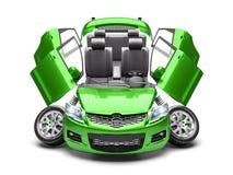 Conceito de peças sobresselentes do carro 3d rendem imagens de stock