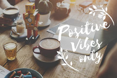 Conceito de pensamento da inspiração da motivação da atitude positiva Fotos de Stock