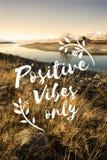Conceito de pensamento da inspiração da motivação da atitude positiva Fotos de Stock Royalty Free