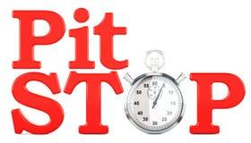 Conceito de Pit Stop, rendição 3D Fotos de Stock Royalty Free