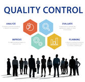 Conceito de produto da verificação de controle de qualidade foto de stock royalty free