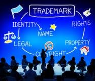 Conceito de produto de marcagem com ferro quente da identidade de Copyright da marca registrada Fotos de Stock Royalty Free