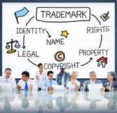 Conceito de produto de marcagem com ferro quente da identidade de Copyright da marca registrada fotos de stock
