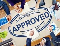 Conceito de produto exclusivo aprovado da garantia de 100% Foto de Stock Royalty Free