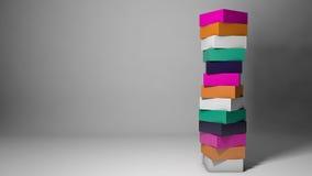 Conceito de projeto abstrato com cubos coloridos Imagem de Stock Royalty Free
