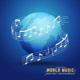 Conceito de projeto abstrato da música do mundo 3D ilustração do vetor