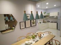 Conceito de projeto bonito do espaço para refeições foto de stock royalty free