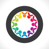 Conceito de projeto colorido dos trabalhos de equipa ou da unidade Foto de Stock Royalty Free