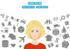 Conceito de projeto complexo do seguro Fotografia de Stock Royalty Free