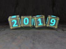 Conceito de projeto criativo do ano novo 2019 Foto de Stock