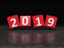 Conceito de projeto criativo do ano novo 2019 Imagem de Stock