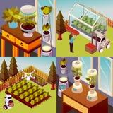 Conceito de projeto da fazenda de Robotised Fotografia de Stock