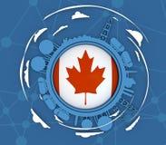 Conceito de projeto da indústria do gás natural Imagens de Stock Royalty Free