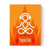Conceito de projeto da ioga Ilustração do Vetor