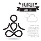 Conceito de projeto da ioga Foto de Stock