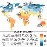 Conceito de projeto da meteorologia ilustração stock