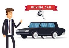 Conceito de projeto do carro bem escolhido e da compra ilustração royalty free