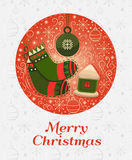 Conceito de projeto do Feliz Natal Fotos de Stock