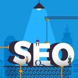 Conceito de projeto liso SEO (o Search Engine aperfeiçoa) Illustr do vetor ilustração royalty free