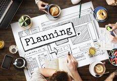 Conceito de projeto planeando do guia das soluções do progresso Fotografia de Stock Royalty Free