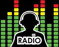 Conceito de rádio do equalizador Foto de Stock