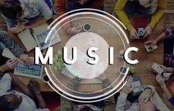 Conceito de rádio do estilo de vida do partido dos multimédios da música fotos de stock