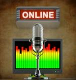 Conceito de rádio do Internet ilustração stock