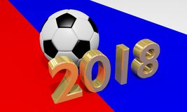 Conceito 2018 de Rússia do futebol Imagem de Stock
