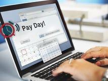 Conceito de renda da finança do orçamento da contabilidade do dia de pagamento Imagens de Stock Royalty Free