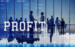 Conceito de rendimento bruto do benefício financeiro do benefício dos ativos do lucro imagens de stock