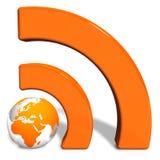 Conceito de RSS Imagem de Stock