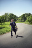 Conceito de Running Aspirations Environment do homem de negócios Imagens de Stock