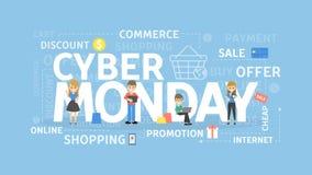 Conceito de segunda-feira do Cyber ilustração royalty free
