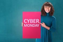 Conceito de segunda-feira do Cyber fotos de stock royalty free