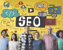 Conceito de SEO Search Engine Optimization Internet Digital foto de stock