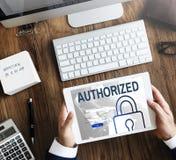 Conceito de sistema autorizado da segurança da rede da acessibilidade fotografia de stock royalty free