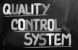 Conceito de sistema de controlo da qualidade Imagens de Stock