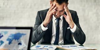 Conceito de Stress Meeting Strategy do líder do homem de negócios fotos de stock royalty free