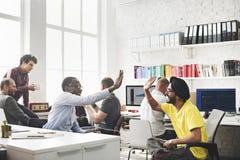 Conceito de Team Discussion Meeting Corporate Success do negócio Fotografia de Stock Royalty Free