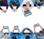 Conceito de Team Global Communication Connection Meeting do negócio foto de stock