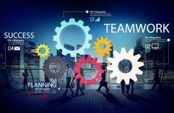 Conceito de Team Group Gear Partnership Cooperation dos trabalhos de equipa Imagem de Stock