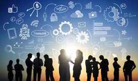 Conceito de Team Meeting Conference Seminar Brainstorming ilustração royalty free